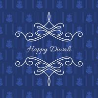 stylish card of diwali vector