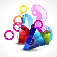 vector stylish 3d shape design