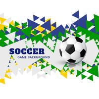 arte de design de futebol de vetor