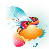 Abstrakter Wolkenvektor