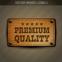 étiquette premium vectorielle