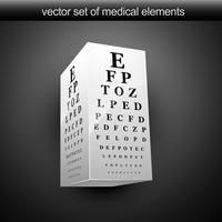 tabla de Vision ocular vector