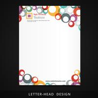 design de círculos coloridos de vetor de papel timbrado
