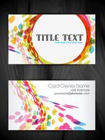 diseño de tarjeta de visita creativa hermosa