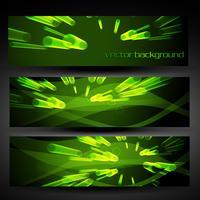 Vektorgrünes abstraktes Fahnenset 5