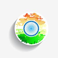 stylish creative indian flag