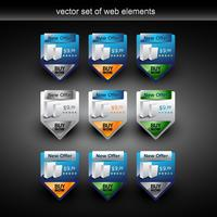 product sale web element vector