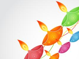 bunte Diwali Diya