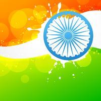 drapeau indien de vecteur