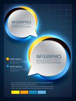 speech bubbles in infographic style