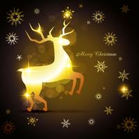 golden reindeer design