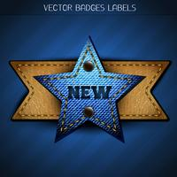 new star label  vector