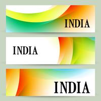 uppsättning indiska banderoller