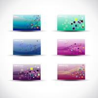 cartões coloridos elegantes vector