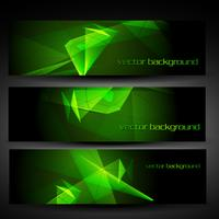 vector green abstract banner