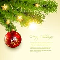 christmas background tree vector