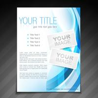 stylish brochure flyer poster template design vector