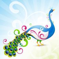 konstnärlig påfågel