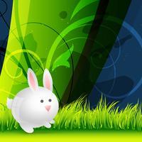 conejo lindo vector