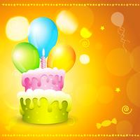 greeting card of birthday vector
