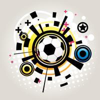 Abstrakt fotboll vektor