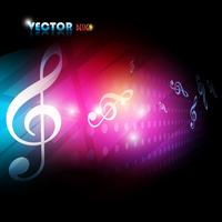 vector beautiful music background