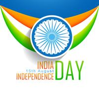 Vektor indische Flagge Hintergrund