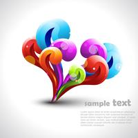 elemento de design colorido
