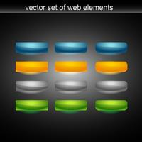 vector web button set of tweleve