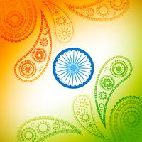 belle conception de drapeau indien