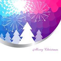färgglada julbakgrund