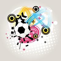 Vector de futbol abstracto