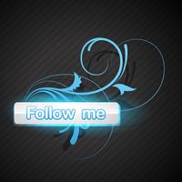 follow me button vector