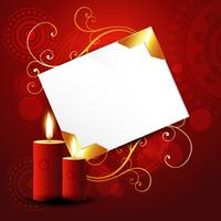 beautiful red candles vector