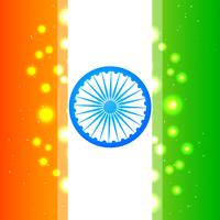 bandera india brillante
