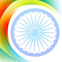 indian flag wave vector