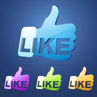 social like thumb vector