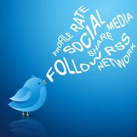pájaro azul social