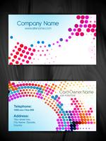 abstract halftone style business card template