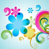 vector colorido floral