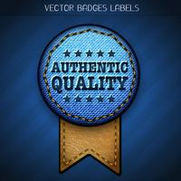 authentic quality label
