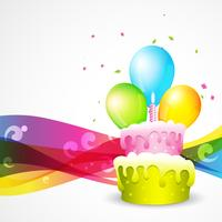 beautiful background of birthday vector