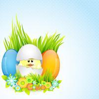 design coloré de Pâques