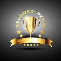 icono de trofeo de líder de vector