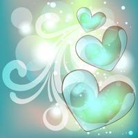 fundo do coração de vetor
