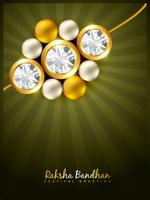 stylish rakhi background vector