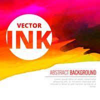 bright watercolor colorful ink splash vector