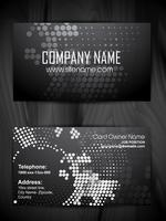 halftone style business card design