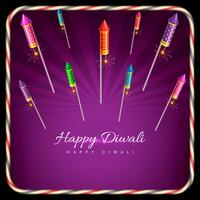 Stylish background of diwali vector