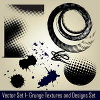 conjunto de grunge vector